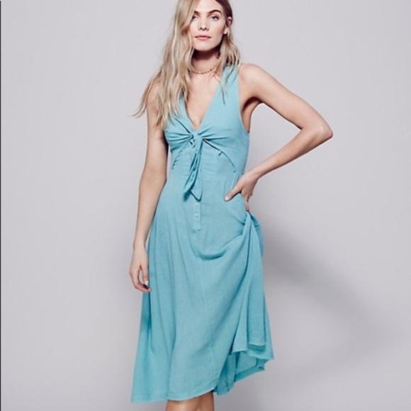 Free People Dresses & Skirts - Free People Woo Wee Solid Boho Summer Dress S